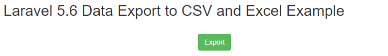Laravel Data Export to CSV and Excel Example