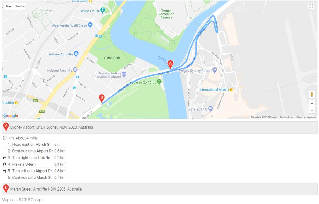 Laravel Google Maps Example