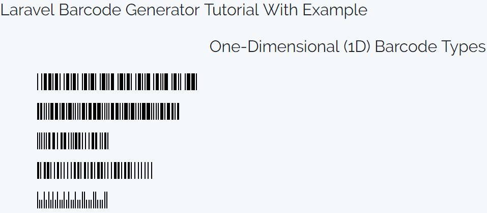 Laravel Barcode Generator Tutorial With Example