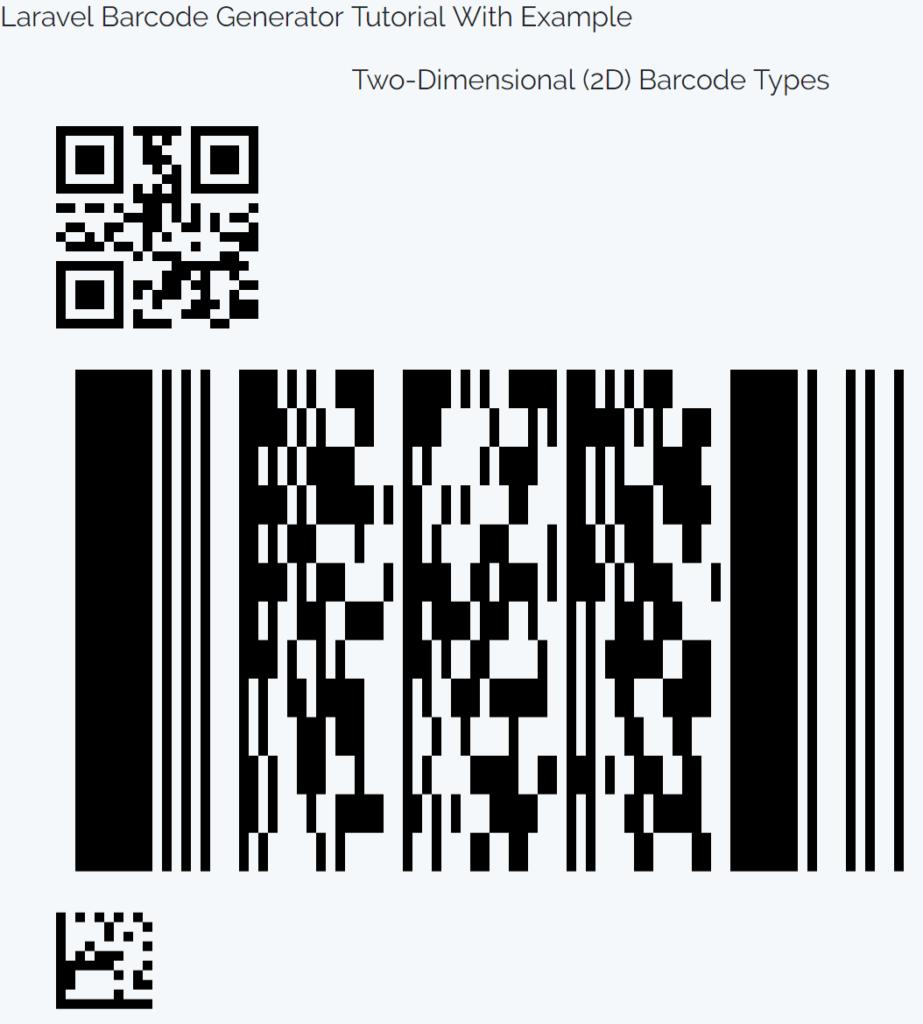 Laravel Barcode Generator Tutorial With Example