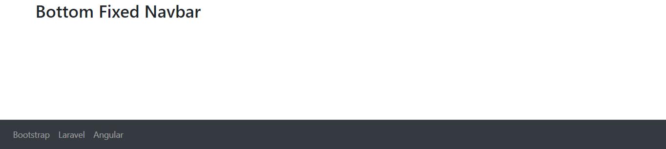 Bootstrap 4 Bottom Fixed Navbar Example