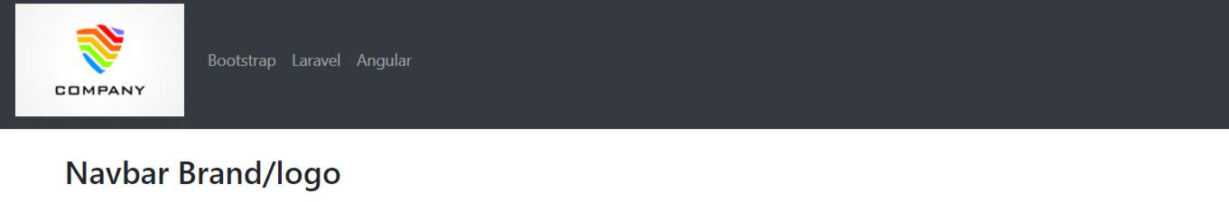 Bootstrap 4 Navbar Brand-logo Example