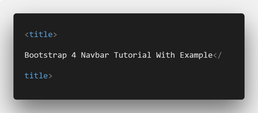 Bootstrap 4 Navbar Tutorial With Example