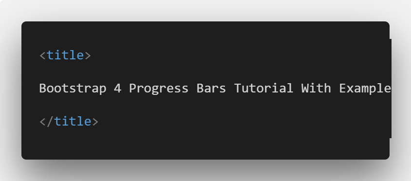 Bootstrap 4 Progress Bars Tutorial With Example