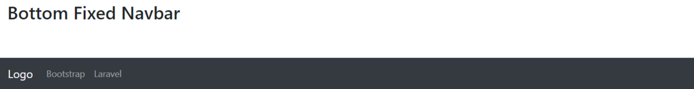 Bootstrap 4 Utility Classes Bottom Fixed Navbar Example