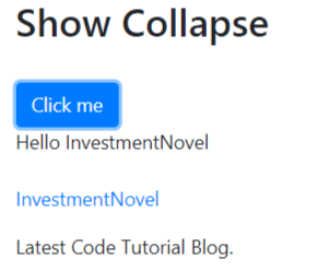 Bootstrap 4 collapse tutorial