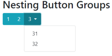 bootstrap 4 nested button group and dropdown example