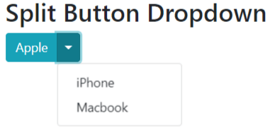 bootstrap 4 split button dropdown example