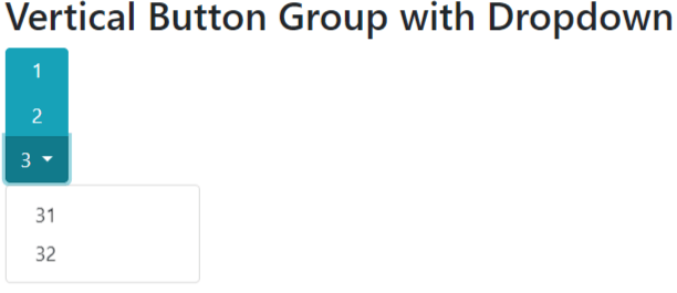 bootstrap 4 vertical button group with dropdown example