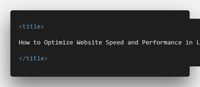 How to Optimize Website Speed and Performance in Laravel