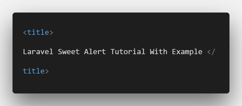 Laravel 5.6 Sweet Alert Tutorial With Example