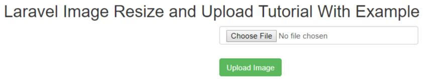 Laravel Image Resize and Upload Example