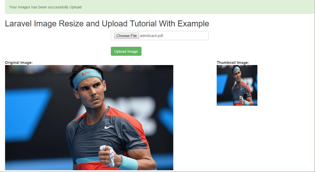 Laravel Image Resize and Upload Tutorial