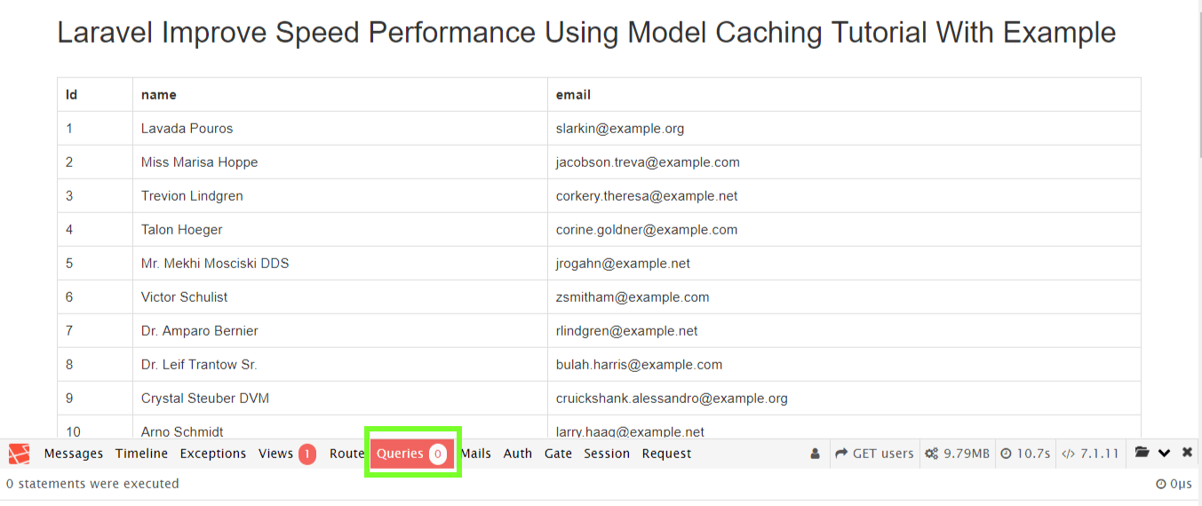 Laravel Improve Speed Performance Using Model Caching Tutorial