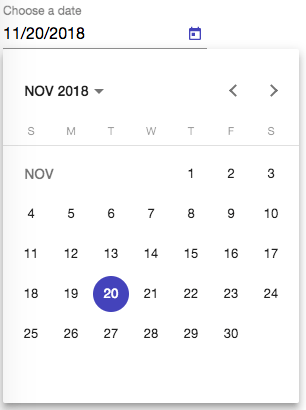Angular Material Datepicker Example