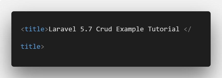 Laravel 5.7 Crud Example Tutorial