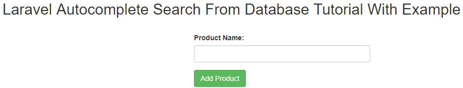 Laravel Autocomplete Search From Database Using Typeahead Tutorial